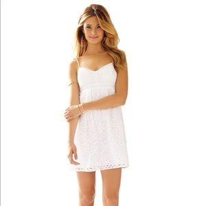 Lilly Pulitzer White Lace Babydoll Joanna Dress
